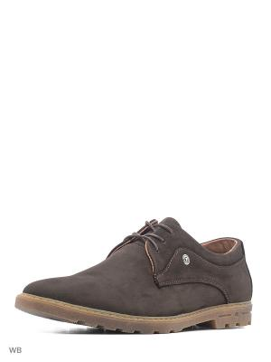 Туфли GassA. Цвет: коричневый