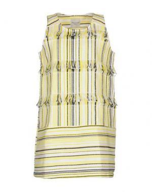 Короткое платье MARIUCCIA. Цвет: желтый