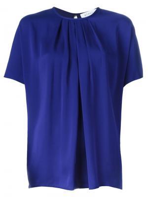 Плиссированная блузка Gianluca Capannolo. Цвет: синий