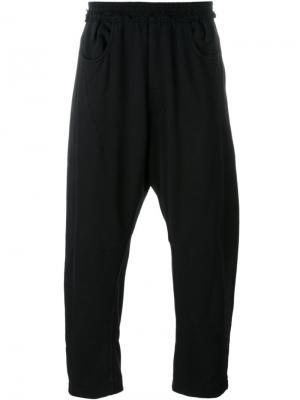 Укороченные спортивные брюки Haider Ackermann. Цвет: чёрный