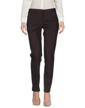 Повседневные брюки CARLA MONTANARINI. Цвет: темно-коричневый