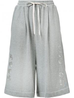 Укороченные брюки Maison Mihara Yasuhiro. Цвет: серый