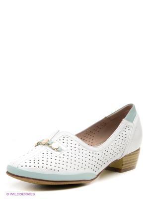 Туфли EVITA. Цвет: белый, светло-зеленый