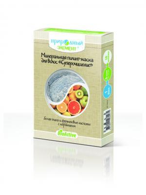 Пилинг-маска минеральная Суперочищение  (белая глина и фрукт. кислоты). 5 саше по 10мл. Природный элемент. Цвет: бежевый