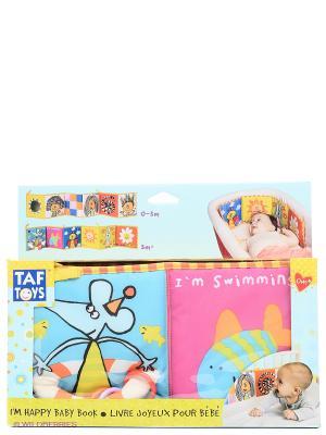 Игрушка Развивающая книжка TAF TOYS. Цвет: голубой, розовый, желтый