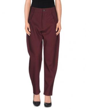 Повседневные брюки COMEFORBREAKFAST. Цвет: красно-коричневый
