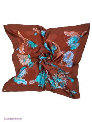 Платок Eleganzza. Цвет: коричневый, голубой
