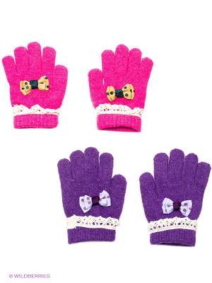 Перчатки, 2 пары FOMAS. Цвет: фиолетовый, розовый, желтый