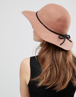 Boardwalk Фетровая шляпа с широкими мягкими полями Boardmans. Цвет: коричневый