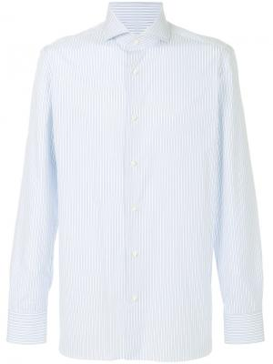 Рубашка с длинными рукавами Luigi Borrelli. Цвет: синий