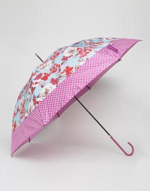 Totes Зонт с цветочным принтом. Цвет: розовый