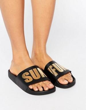THEWHITEBRAND Черные сандалии WhiteBrand. Цвет: черный