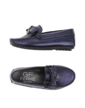 Мокасины GF FERRE'. Цвет: темно-фиолетовый