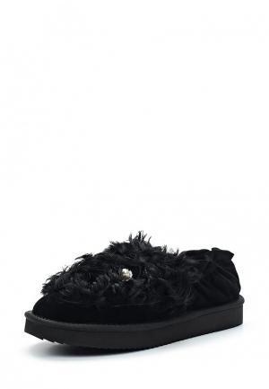 Слипоны Grand Style. Цвет: черный