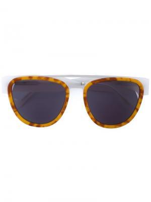Солнцезащитные очки Sodapop II Smoke X Mirrors. Цвет: белый