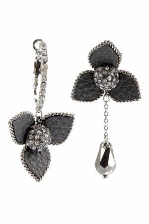 Серьги с кристаллами Herald Percy. Цвет: серый