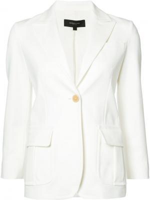 Пиджак с застежкой на одну пуговицу Derek Lam. Цвет: белый