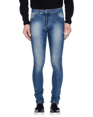 Джинсовые брюки ENTRE AMIS. Цвет: синий