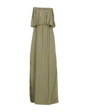 Длинное платье MONICA •LENDINEZ. Цвет: зеленый-милитари