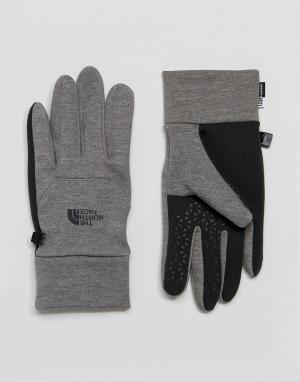 The North Face Серые перчатки Etip. Цвет: серый