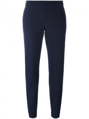 Расклешенные укороченные брюки Theory. Цвет: синий