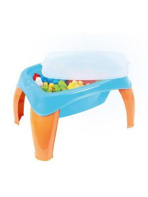 Столик с конструктором 42 детали DOLU. Цвет: синий