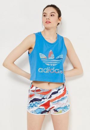 Майка adidas Originals. Цвет: синий