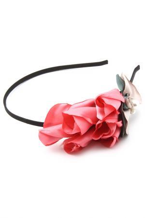 Ободок Chaplet. Цвет: серо-розовый