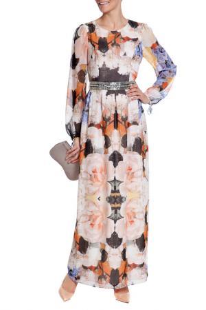 Платье XS MILANO. Цвет: бежево-синий