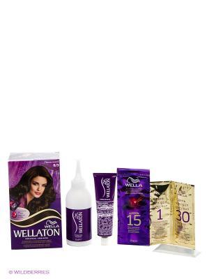 Крем-краска для волос 6/3 Темное золото WELLATON. Цвет: фиолетовый