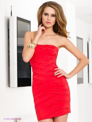 Платье NikiBiki. Цвет: коралловый