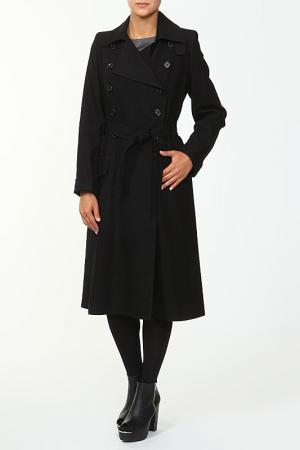 Пальто с поясом Ann Demeulemeester. Цвет: черный