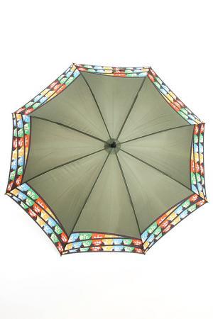 Зонт-трость H.DUE.O. Цвет: зеленый