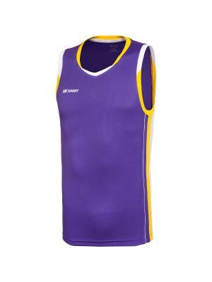 Баскетбольная игровая майка Advance 2K. Цвет: фиолетовый, желтый, белый