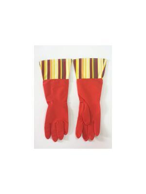 Перчатки латексные Magic Home. Цвет: красный