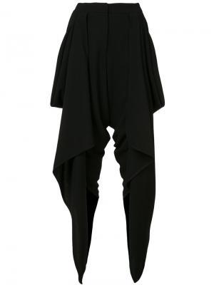 Draped wrap cropped trousers Gareth Pugh. Цвет: чёрный