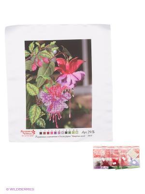 Набор для вышивания бисером Фуксия Матренин Посад. Цвет: белый, зеленый, бордовый, розовый