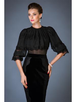 Блузка Арт-Деко. Цвет: черный