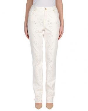 Джинсовые брюки MARANI JEANS. Цвет: белый