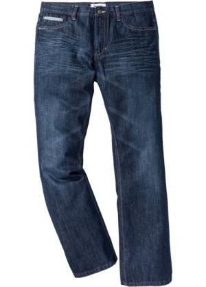 Расклешенные джинсы Regular Fit с контрастными швами, cредний рост (N) (темно-синий) bonprix. Цвет: темно-синий