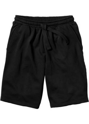 Трикотажные шорты стандартного покроя (черный) bonprix. Цвет: черный