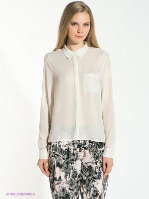 Блузка Vero moda. Цвет: молочный, золотистый