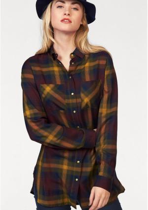 Удлиненная блузка AJC. Цвет: бордовый/карри/темно-синий