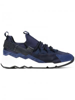 Кроссовки с панельным дизайном Pierre Hardy. Цвет: синий