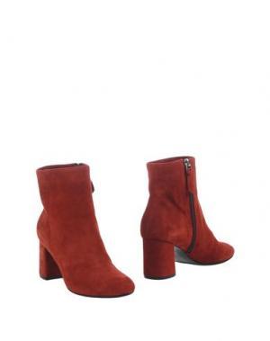 Полусапоги и высокие ботинки PREZIOSO. Цвет: красно-коричневый