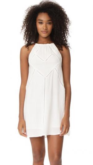 Платье Mallorca Knot Sisters. Цвет: белая ткань добби