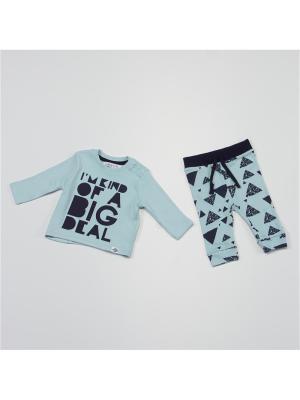Комплект одежды BABALUNO. Цвет: синий, серо-голубой
