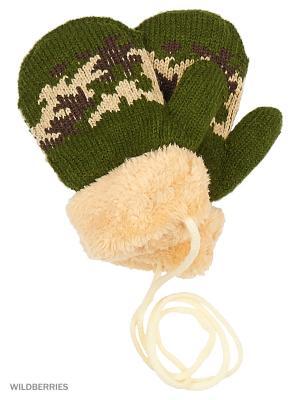 Варежки Mini. Цвет: зеленый