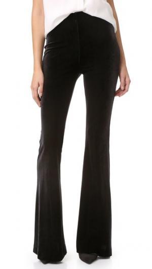 Расклешенные бархатные брюки Nicholas. Цвет: голубой