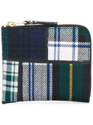 Бумажник в клетку Comme Des Garçons Wallet. Цвет: зелёный